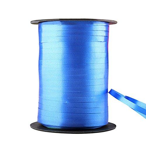 xbwwt 500 Yards Ballon Curling Ribbon/Ballon Band Saiten Geschenkpapier Bänder Hochzeit Geburtstag Handwerk Party Decor (Royal blue)