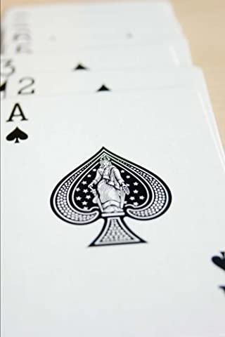 Ace of Spades Playing Cards Journal: 150 Page Lined Notebook/Diary
