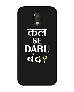 GripIt DARU BAND Printed Case for Motorola Moto E3