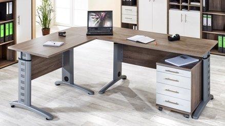 Schreibtisch büromöbel  Büroeinrichtung Büromöbel Aktenschrank Aktenregal Trüffeleiche ...