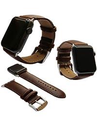 Jewellers Tools - Correa de Piel auténtica para Apple Watch iWatch 2017 ...