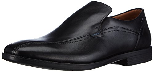 Clarks Glenrise Step, Herren Slipper, Schwarz (BLACK LEATHER), 42 EU