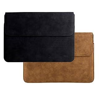 Adento MacBook Hülle 12 Zoll | Laptop Schutzhülle aus mattem Luxus Leder | Notebook Sleeve-Tasche für Herren und Damen | Original Marken-Design | Braun