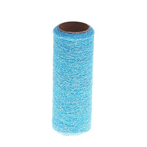 Healifty Tüll Rollenspule Tüll Stoff Rolle für Hochzeit Tisch Tutu Kleid Rock Dekorationen 15 cm 10 Yards (Himmelblau) -