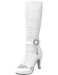 più recente f6a53 ba343 Amazon.it: stivali bianchi - Stivali / Scarpe da donna ...