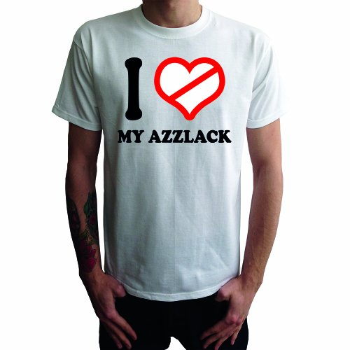 I don't love My Azzlack Herren T-Shirt Weiß
