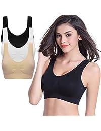 e0d22e4c5a Kloius Womens Sports Bra Yoga Workout Bralette Vest Wire Free Stretch Bras