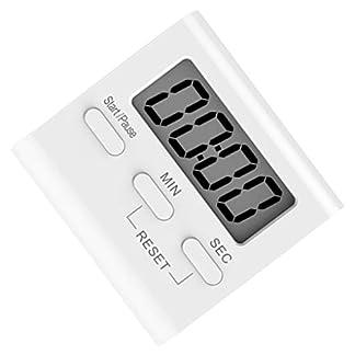 Ben-gi Blanco LCD Digital de Cocina Que Cocina Temporizador de Cuenta atrás del Reloj hasta Fuerte Alarma magnética cronómetro