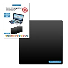 Blum - Display cleaning cloth 20x20 cm black - For the perfect cleaning of camera lens   computer   display   glasses   iMac   laptop   LED TV   monitor   notebook   Playstation   screen   smartphone   sunglasses   tablet   VR glasses   Xbox and more ...