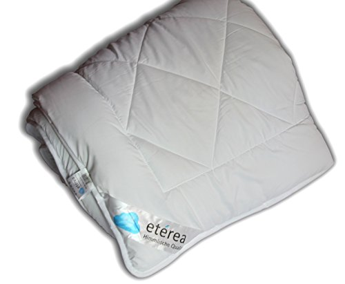 etérea Microfaser Steppbett Bettdecke Duo Winter Herbst, kochfest bei bis zu 95°, Gesamtgewicht ca. 1500g, 155x220 cm