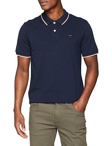 JACK & JONES Herren Poloshirt JJECONTRAST Stripe Polo SS NOOS, Blau (Navy Blazer Detail: Slim Fit), Large