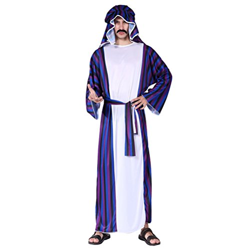 Zhuhaitf Karneval Mittelalterlich Fancy Dress Kostüm Partei Mittlerer Osten Outfit für Halloween Herren Cosplay Dubai Araber Performance Robe Set Style 9-11 Available
