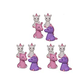 12er-Set-Puzzle-Radierer-Einhorn-Radiergummi-tolles-Kindergeschenk-Mitgebsel
