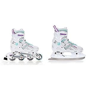 RAVEN 2in1 Schlittschuhe Inline Skates Inliner Pulse White/Blue/Violet verstellbar