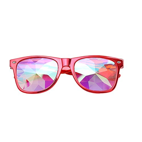 Byqny Kaleidoskop Dekoration Lay Sonnenbrille Linse Mosaik Gläser Rave Party EDM Regenbogen Prisma Diffraktion Brille Nachtclub