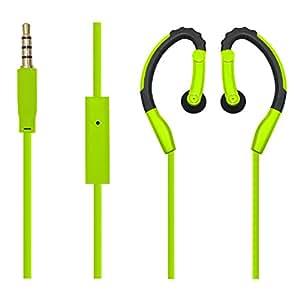 Besign SP01 Sport Auricolari In Ear Stereo Auricolari, In Microfono Incorporato, Remoto Controllo Per iPhone, iPad, Smartphone, Tablet, ecc (Verde)