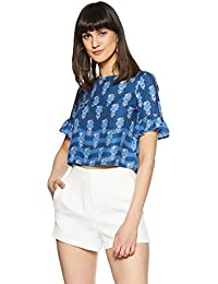 global desi Women's Floral Regular Fit Top