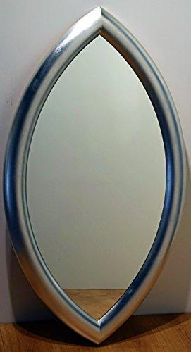 Miroir mural moderne cm. 66x114. Cadre en bois massif, finition feuille d  e76806b352fe