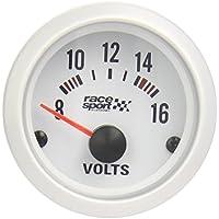 "Sumex Gaug484 - Voltímetro ""Race Sport"" Diámetro 52 m, 12V"