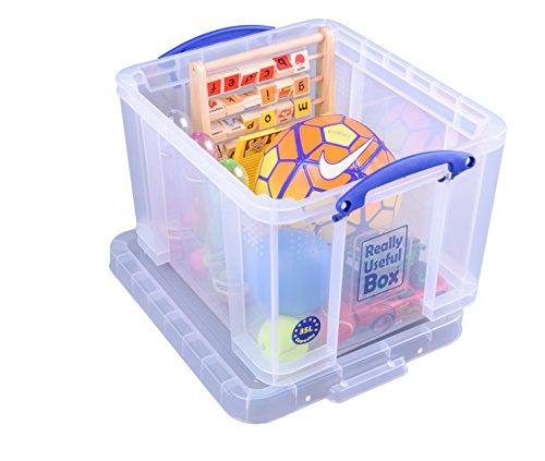 Really Useful Box 35CCB Aufbewahrungsbox für Schreibwaren, 35 L (Klar Kunststoff-boxen)
