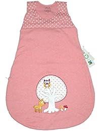 Baby Schlafsack altrosa mit Applikation - Naturkleidung Gr.70cm
