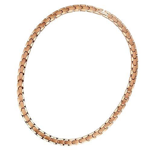 masaling Pure Titanium rose gold Halskette 2Element Löser Germanium und Hämatit für Frauen und Mädchen Schmerzen relief- Modisches Design, gesundes Produkt -