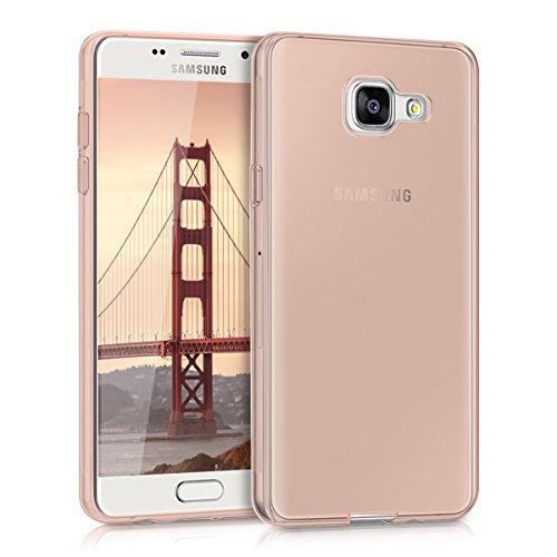 kwmobile Samsung Galaxy A5 (2016) Cover - Custodia per Samsung Galaxy A5 (2016) in Silicone TPU - Back Case Protezione Posteriore Oro Rosa