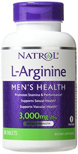 Natrol, L-Arginin, 3000 mg, 90 Tabletten