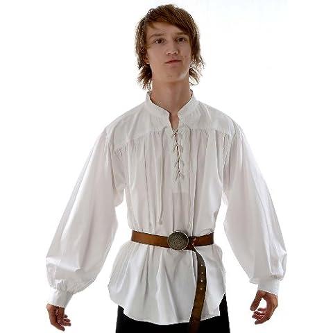 HEMAD Hombres Camisa De Pirata Medieval Ñ, ñ, diseño de