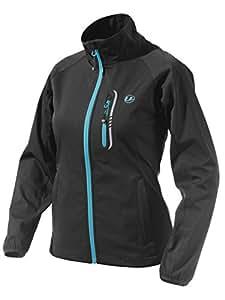 Ultrasport Women's Mia Softshell Jacket - Black/Turquoise, X-Small