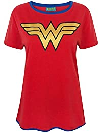 0ff57f910fb80 Wonder Woman Metallic Logo Women s T-Shirt