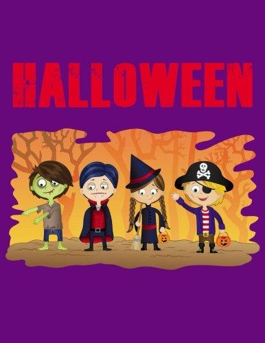 Themed Writing Journal / 8.5 x 11 Halloween Notebook (Halloween Gifts) (Elf Halloween)