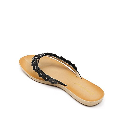 Ideal Shoes ,  Infradito donna Nero