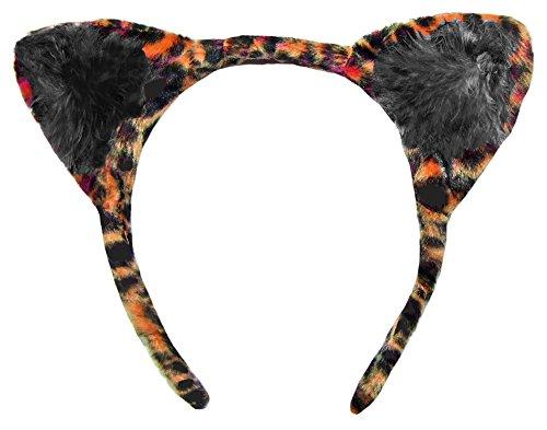 Haarreif zum Katzen Kostüm Orange Schwarz (Orange Und Schwarze Katze Kostüm)