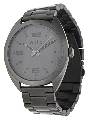 edc by ESPRIT Legend Chrono Swiss Made Unisex Analogue Watch with Grey Dial Analogue Display and Stainless steel plated