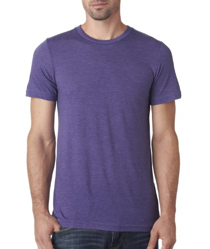 Bella+Canvas: Men`s Triblend V-Neck T-Shirt 3415 Violett - Purple Triblend