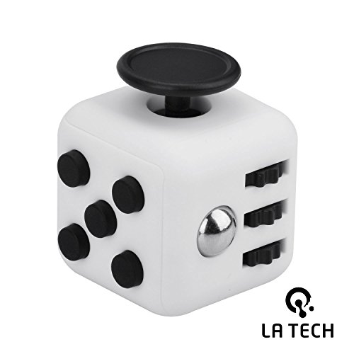 Fidget 6 Sided Cube Relieves Stress And Anxiety for Children and Adults Best Release Pressure Toys For Girl Boys Children Adults (White)