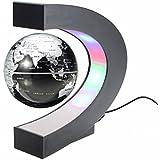 MECO Créatif Globe Terrestre Lumineux Flottant Magnétique Lévitation Globe Lamp avec Lumières LED Sphère pour Démonstration de l'enseignement Décorations Maison et Bureau Cadeau de Noël d'Anniversaire Noir