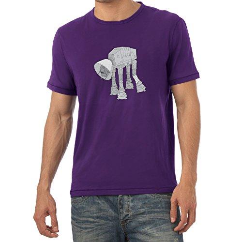 NERDO - Doggy AT-AT - Herren T-Shirt Violett