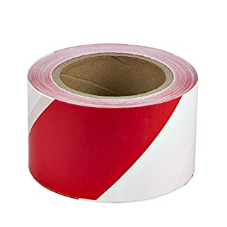 200 m Absperrband Kennband rot weiß Baustellensicherung Warnband Flatterband