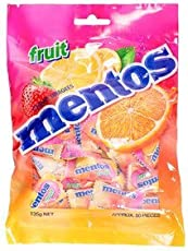 Mentos Chewy Dragees Fruit, 135g