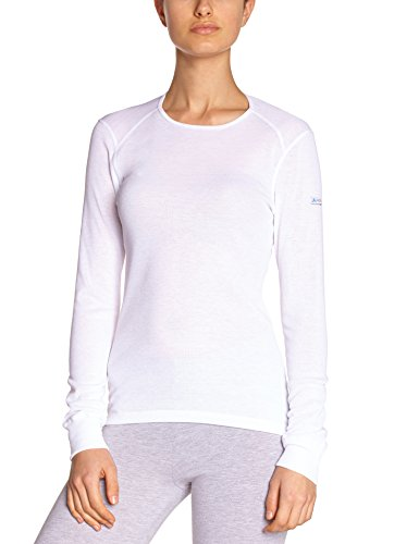 Odlo Damen Funktionsunterwäsche Langarm Crew Neck Warm, White, XL, 152021 (Unterwäsche Damen-champion)