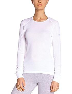 ODLO camiseta de manga larga para mujer, invierno, mujer, color Blanco - blanco, tamaño small