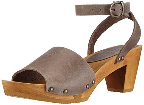 Sanita Yara Square Flex Sandal, Damen Knöchelriemchen Sandalen, Grau (Grey 20), 41 EU