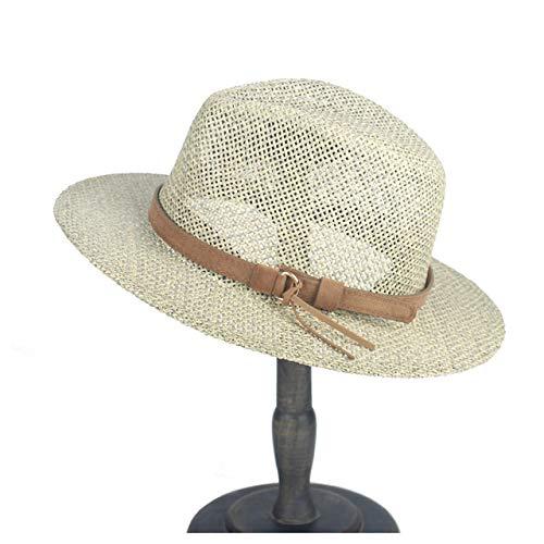zlhcich Herren Cowboy Hüte Günstige Herren Cowboy Hüte WhiteHats Mit Roll Up Brim Lady Gentleman Sommer Strand Cowgirl Sombrero Hombre Sun Cap Größe 56 58CM -