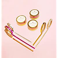 (5er) Skinny Gold Foil Washi Tape Set for Planning • Planer und Organizer • Scrapbooking • Deko • Office • Party Supplies • Gift Wrapping • Colorful Decorative • Masking Tapes • DIY