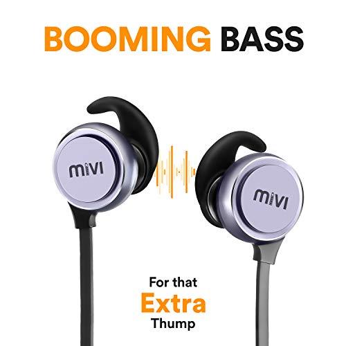 Mivi ThunderBeats Wireless Bluetooth Earphones with Mic - Gun Metal Image 3