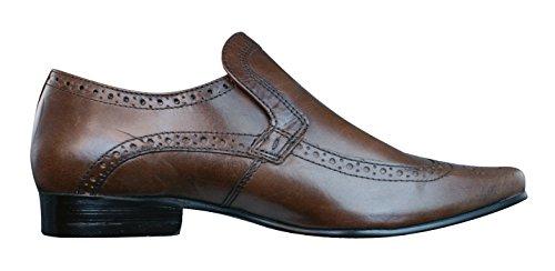 Red Tape Malago hommes en cuir Brogues / Chaussures brown
