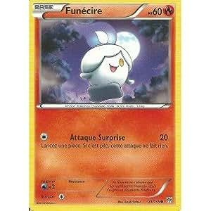 Carte Pokémon FUNECIRE 21/135 NOIR & BLANC TEMPETE PLASMA NEUF FR