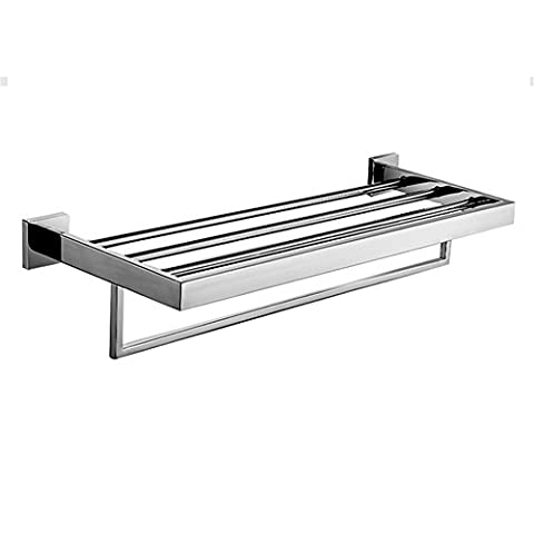 Aothpher Wall Mounted 304 SUS Stainless Steel Towel Rack Double